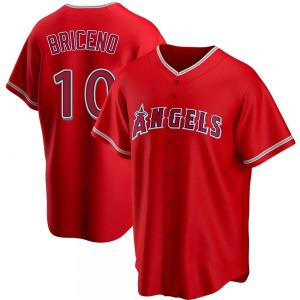 Men's Los Angeles Angels Jose Briceno Red Alternate Jersey - Replica