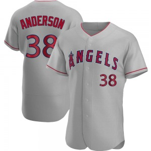 Men's Los Angeles Angels Justin Anderson Gray Road Jersey - Authentic