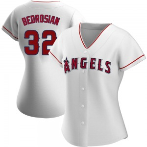 Women's Los Angeles Angels Cam Bedrosian White Home Jersey - Replica