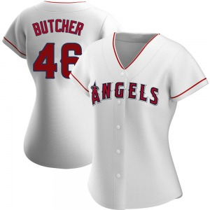 Women's Los Angeles Angels Ryan Butcher White Home Jersey - Authentic