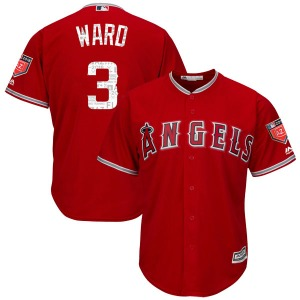Youth Majestic Los Angeles Angels Taylor Ward Scarlet Cool Base 2018 Spring Training Jersey - Replica