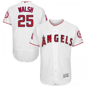 Men's Majestic Los Angeles Angels Jared Walsh White Flex Base Home Collection Jersey - Authentic