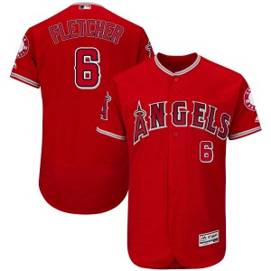 Youth Majestic Los Angeles Angels David Fletcher Scarlet Flex Base Alternate Collection Jersey - Authentic