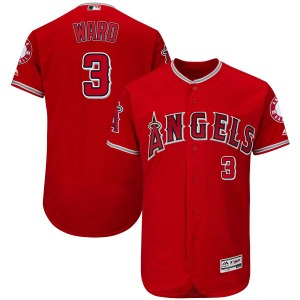 Youth Majestic Los Angeles Angels Taylor Ward Scarlet Flex Base Alternate Collection Jersey - Authentic